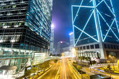Traffic and modern building in Hong Kong — Foto de Stock