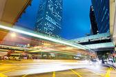 Traffic through downtown HongKong  — Stock Photo