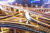 City interchange overpass at night  — Stock Photo