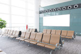 Modern airport terminal waiting room — Foto Stock