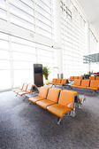 Modern airport terminal waiting room — Stock Photo