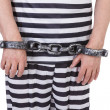 Handcuffed hands — Stock Photo