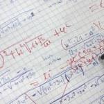 Correcting maths — Stock Photo