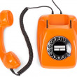 Bakelite rotary phone - Stock Photo