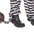Close-up of prisoners&#039; legs - Stock Photo