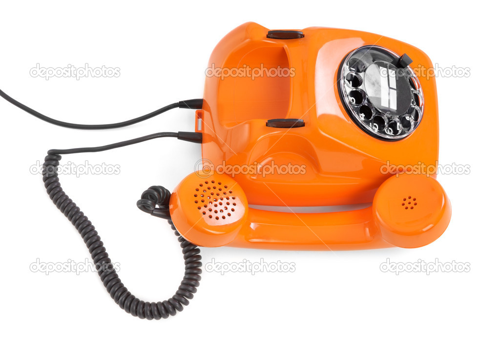 Bakelite rotary phone on white background — Stock Photo #20122487