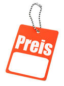 German price tag — Stock Photo