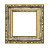 Silver and gold frame — Stock Photo