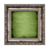 Frame with green canvas — Stock Photo