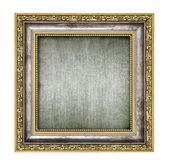 Srebra i złota rama z płótna wnętrza — Zdjęcie stockowe