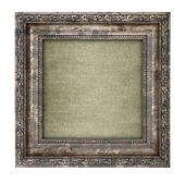 Ruined wooden frame with canvas interior — Stock Photo