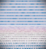 Código binário abstrato — Fotografia Stock