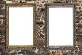 Two empty wooden frames — Stock Photo