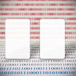 Abstract binary code and copy space — Stock Photo