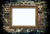Golden wooden frame — Stockfoto
