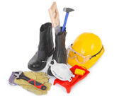 Repair accessories on white — Stock Photo