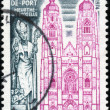 Royalty-Free Stock Photo: Stamp Basilique de Saint Nicolas de Port Meurthe et Moselle
