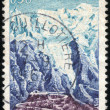 Stamp Chamonix — Stock Photo
