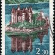 Stamp Chateau de Val — Stock Photo