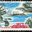 Stamp Guadeloupe — Stock Photo