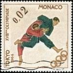 Stamp Tokyo 1964 0,01 — Stock Photo