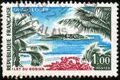 邮票瓜德罗普岛 — 图库照片