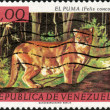 Stock Photo: Stamp El Puma