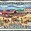 Stamp Cuatricentenario de la Ciudad de Caracas 1,00 - Stock Photo