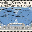 Stamp Cuatricentenario de la Ciudad de Caracas 0,60 - Stock Photo