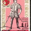 Stock Photo: Stamp Capitan Francisco Faiardo