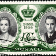 Stamp 19 Avril 1956 — Stock Photo