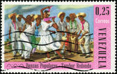 Stamp Danzas Populares - Tambor Redondo — Stock Photo