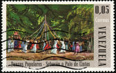 Stamp Danzas Populares - Sebucan o Palo de Cintas — Stock Photo