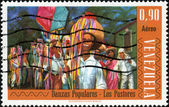 Stamp Danzas Populares - Los Pastores — Stock Photo