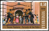 Stamp Danzas Populares - Parranda de San Pedro — Stock Photo