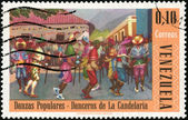 Stamp Danzas Populares - Danceros de la Candelaria — Stock Photo