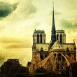 Grunge Notre Dame of Paris — Stock Photo #14367215