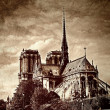 Grunge Notre Dame of Paris — Stock Photo #14367219