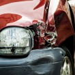 Stock Photo: Red accident car