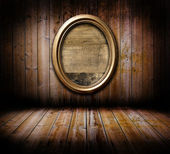 Grunge interior with frame — Stock Photo