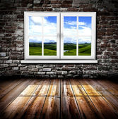 Window in a room — Stock Photo