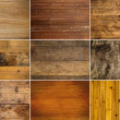 Collection of wooden texture - Stock Photo