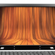 Royalty-Free Stock Photo: Laptop with wood
