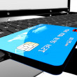 Credit card on laptop — ストック写真 #20831055