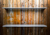 Mensola in vetro vuoto — Foto Stock