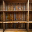 Stock Photo: Empty wood shelf