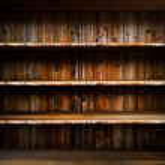 Empty wood shelf — Stock Photo