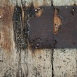 Grunge metal and wood texture — Stock Photo