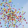 colorful baloons in the sky — Stock Photo