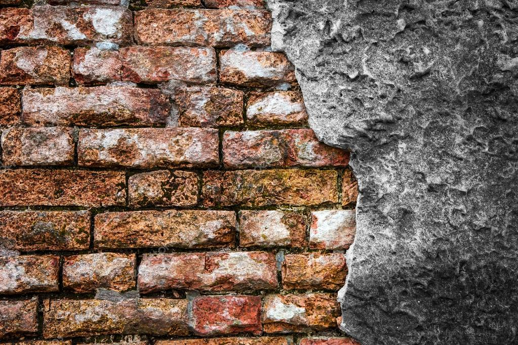 Brick Wall With Cracked Concrete Stock Photo Cla1978 23273864